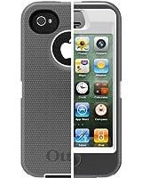 Otterbox Defender Series Hybrid Case & Holster for iPhone 4 & 4S White/Gunmetal Grey Glacier - Bulk Packaging