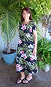 Pale Hibiscus Orchid Women's Caftan S…