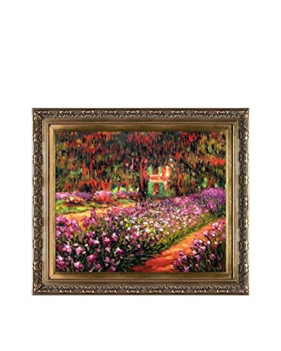 Claude Monet's Artist's Garden At Giverny Framed Hand Painted Oil On Canvas