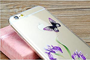 Special Butterfly Flower Protective Thin Soft Phone Cover for iPhone 6 iPhone 6 Plus