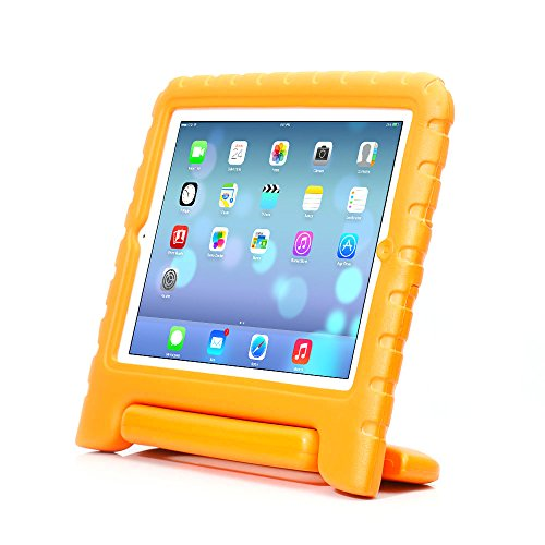 iPad Case, iPad 2 Case, iPad 3 Case, iPad 4 Case, ACEGUARDER Light Weight Shockproof Kids Friendly Handle Cases Cover with Stand (Orange, iPad 6 (Air 2)) (Ipad Air 2 Top Rated compare prices)
