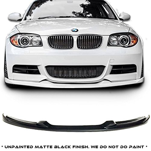 BMW E82 1-Series H Style Urethane Front Bumper Lip Chin Spoiler For 07-11 135 Models ONLY (Bmw 135 Bumper compare prices)