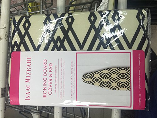 isaac-mizrahi-ironing-board-cover-and-pad-100-cotton-standard-size-black-and-bone-geometric