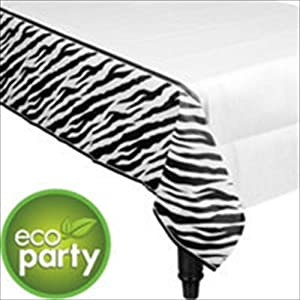 Zebra Stripes Animal Print Paper Table Cover (1ct)