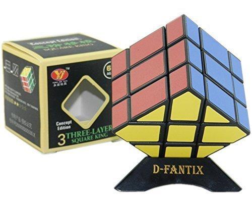 D-FantiX Yj Yongjun Square King Fisher Magic Cube 3x3 Speed Cube Puzzle Black
