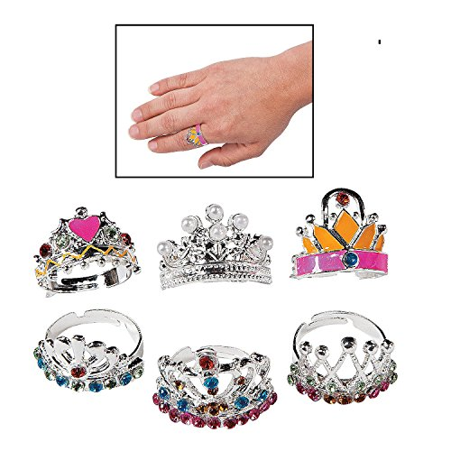 Adjustable Princess Crown Rings (1 dz)