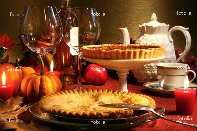 "Wallmonkeys Peel and Stick Wall Graphic - Thanksgiving Desserts - 24""W x 16""H"