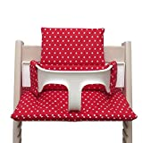 Blausberg Baby High Chair Cushion for Tripp Trapp Red with Stars coated