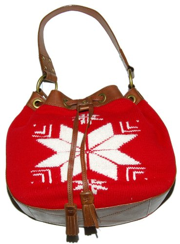 Polo Ralph Lauren Rugby Handbag Tote Bag Red Snowflake