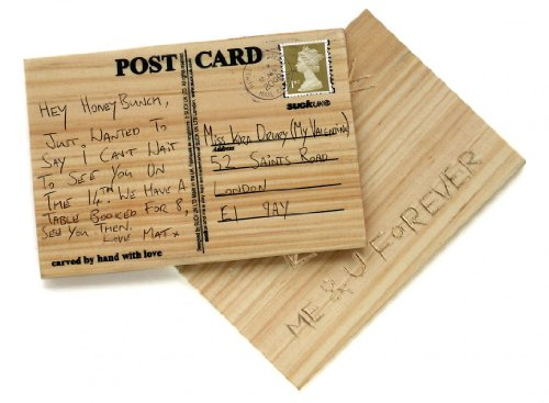 Suck UK SK CARVECARD1 - Talle su propia postal