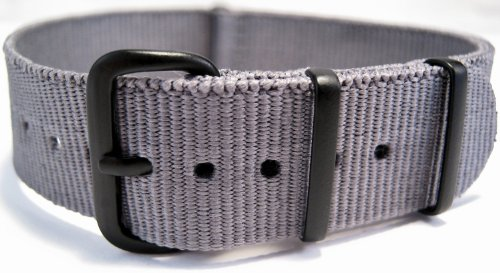 G10 Nato Military Grey Watch Strap Band Black Buckle 18mm