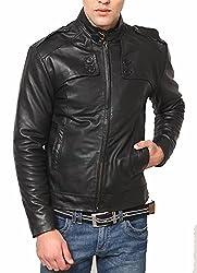 Zayn Leather Men's Leather Jacket (017_WLJ_Black_Large)