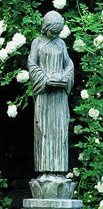 Campania International Wood Nymph Cast Stone Garden Statue, Copper Bronze, 9 diam. x 32H in. - Copper Bronze, 9 diam. x 32H in.