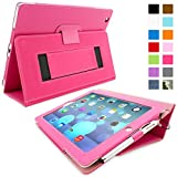 Snugg⢠iPad 2 Case - Smart Cover with Flip Stand & Lifetime Guarantee (Hot Pink Leather) for Apple iPad 2