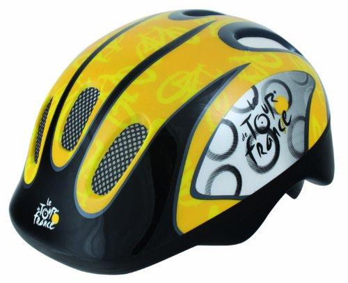Tour De France Children'S Cycle Helmet (Yellow/ Black, Youth 52-56Cm) front-886506