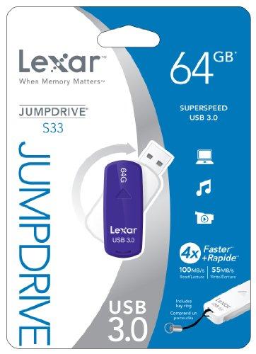 Lexar JumpDrive S33 64GB USB 3.0 Pen Drive