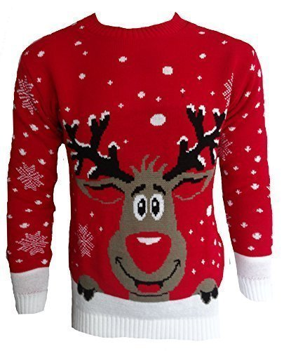 pour-hommes-femmes-3d-rudolph-renne-elfe-noel-fantaisie-pull-top-tricote-rouge-souriant-renne-xl