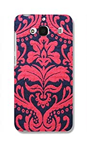 Back Cover for Redmi 2 Prime RED FABRIC