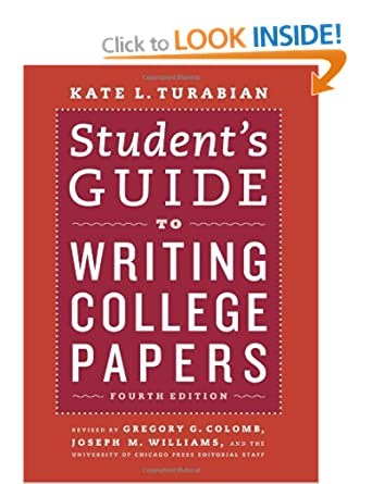 Image: Cover of Student's Guide to Writing College Papers: Fourth Edition by Kate Turabian