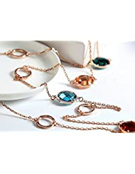 Swarovski Elements Austria Rhinestone Long Chains For Women By Ananth Jewels