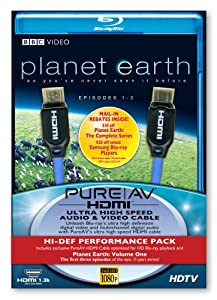 Belkin F5Z0096 PureAV 6ft HDMI Cable with Planet Earth Vol. 1 Blu-Ray Disk (Discontinued by Manufacturer) from Belkin Components
