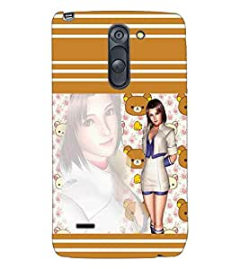 PRINTSWAG TEDDY WITH GIRL Designer Back Cover Case for LG G3 STYLUS