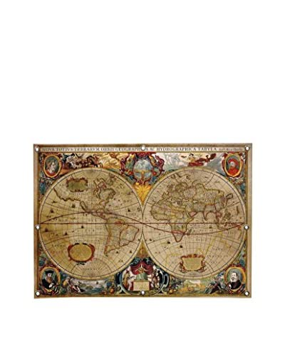 Ginger Victorian Geographica Canvas Wall Mural