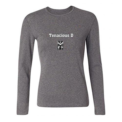 JXK Women's Tenacious D Logo Long Sleeve T-shirt Size XXL ColorName (Tenacious D The Last In Line compare prices)