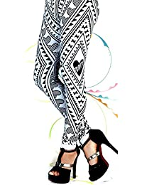 Cotton Viscose Leggings Designer Bottom For Womens & Girls Free Size L / XL Printed 2082