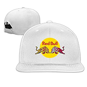 Red Bull LOGO Flat Brim Adjustable Baseball Caps