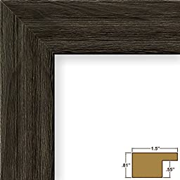 Craig Frames 15DRIFTWOODBK 9 by 12-Inch Picture Frame, Wood Grain Finish, 1.5-Inch Wide, Weathered Black