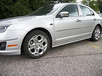 Wheel Cover Ford Fusion Aftermarket S; 17 Inch; Silver Finish; Abs; 5 Spoke; Push On Lug Hug Style Retention