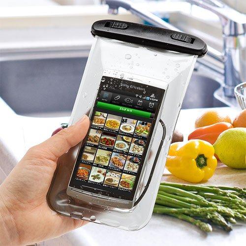 サンワダイレクト 防水ケース イヤホン付き iPhone5s スマートフォン 対応 200-PDA044
