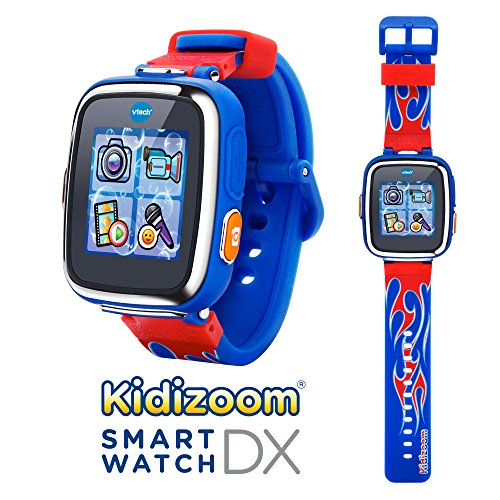 VTech-Kidizoom-Smartwatch-DX-Special-Edition-Red-Flame-with-Bonus-Royal-Blue-Wristband