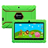 "Contixo Kids Safe 7"" Quad-Core Tablet 8GB, Bluetooth, Wi-Fi, Cameras, 20+ Free Games, HD Edition w/ Kids-Place Parental Control, Kid-Proof Case (Green)"