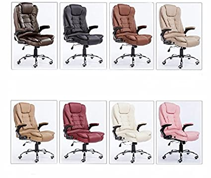 """Casa di moda sedia per ufficio sedia girevole sedia computer sedia massaggio, sedia in pelle,cuoio """"bow leg"""" il colore della nota"""