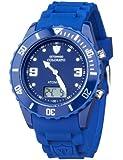 DETOMASO Unisexuhr Quarz Kunststoffgehäuse Silikonarmband Mineralglas COLORATO ATOMICO Funkuhr Trend blau/blau DT2030-C