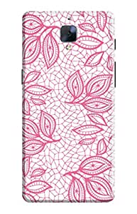KanvasCases Back Cover for one plus 3 - Old Lace Pattern