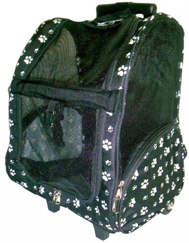 black-white-paw-print-wheeled-backpack-dog-carrier