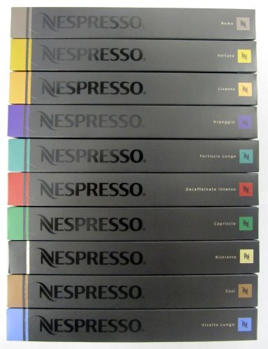 nespresso coffee capsules mixed flavors 100 pack pods. Black Bedroom Furniture Sets. Home Design Ideas
