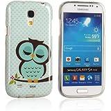 tinxi® étui de protection en silicone et TPU pour Samsung Galaxy S4 Mini case cover housse coque motif hibou vert endormi