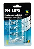 Philips Landscape Lighting 11-Watt 12-Volt Wedge Base Clear 4 Pack