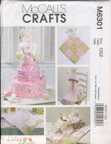 Mccall'S Crafts Sewing Pattern 6301 - Use To Make - Baby Shower Decorations / Gifts front-614540