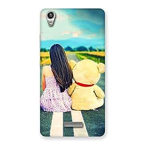 Premium Girl Teddy Multicolor Back Case Cover for Lava-Pixel-V1