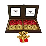 Chocholik Luxury Chocolates - 12pc Ultimate Rocks Collection With Small Ganesha Idol - Diwali Gifts