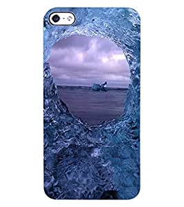 ColourCraft Amazing Water Effect Design Back Case Cover for APPLE IPHONE 4S