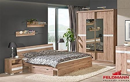 Schlafzimmer 20500 komplett 6-teilig st. tropez dunkel / weiß