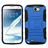 MYBAT ASAMGNIIHPCSAAS005NP Advanced Armor Rugged Durable Hybrid Case with Kickstand for Samsung Galaxy Note II - 1 Pack - Retail Packaging - Dark Blue/Black