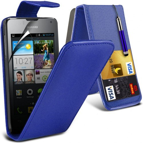 huawei-ascend-y300-leather-flip-case-cover-blueplus-free-gift-screen-protector-and-a-stylus-pen-orde