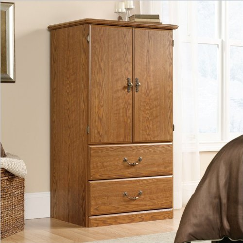 Sauder Orchard Hills Armoire, Carolina Oak Finish back-1081291